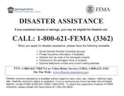 fema disaster assistance phone number forms and templates