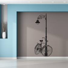 wallstickers folies lamppost bike wall stickers lamppost bike wall stickers