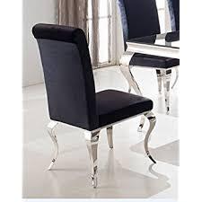 stuehle esszimmer esszimmerstuhl luca barock design samtstoff stof schwarz stuhl