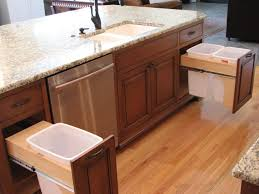 Kitchen Cabinet Trash Can Pull Out Pull Out Trash Recycling Kitchen Traditional With Trash Cans