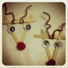 make a popsicle stick reindeer ornament with your tree