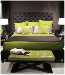 Green Bedrooms Pictures Of Bedrooms Painted Green Pillow And Bed Cover Black