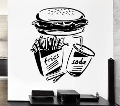 aliexpress com buy free shipping fast food fries soda burger aliexpress com buy free shipping fast food fries soda burger restaurant pop art wall sticker vinyl removable wall stickers from reliable art wall sticker