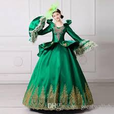 Ball Gown Halloween Costume 100 18th Royal Baroque Green Ball Gown Medieval Dress Court