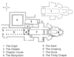 canterbury cathedral floor plan cathedral map canterbury cathedral
