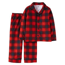 toddler 2 buffalo plaid pajama set black 4t just