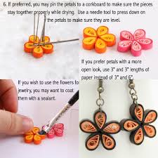 how to make paper quilled daisy earring guest post quilling