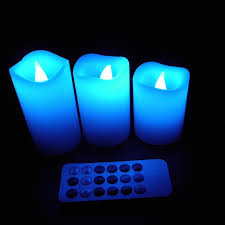 home decoration idea decorating flameless candles with timer changing to blue for home