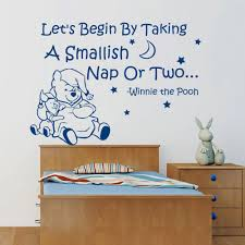 winnie the pooh wall quotes think it over think it under funk let s begin by taking a smallish nap winnie the pooh wall decal by walldecalswithlove