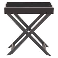 Folding Side Table Oken Black Folding Side Table With Removable Tray Top Buy Now At