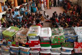fill a shoebox this christmas