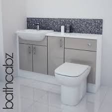 Bathroom Fitted Furniture Latte Gloss Bathroom Fitted Furniture 1400mm Ebay