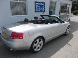 audi a4 convertible s line for sale used 2008 audi a4 convertible silver edition 2 0 tdi s line diesel