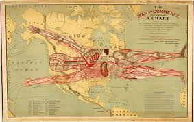 Great America Map by The Man Of Commerce Detailed Map That Conflates Human Anatomy