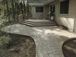 Pictures Of Stamped Concrete Walkways by Portfolio Verona Cobblestone Ageless Concrete