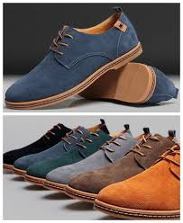 La Z Boy Hayes Casual by New Mens Casual Dress Formal Oxfords Flats Shoes Genuine Suede