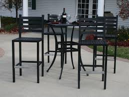 Outdoor Bar Table And Chairs Set 18 Bar Height Patio Furniture Set Electrohome Info