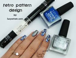 picture polish monday patterned nail art design feat bomb shell