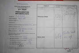 r ultats par bureau de vote procès verbal du bureau de vote de wade