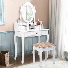 Makeup Bedroom Vanity White Simple Vanity Makeup Table With Mirror 3 Drawers Bedroom
