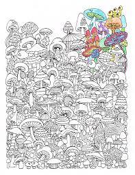 coloring mushrooms printable coloring