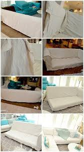 How To Make A Slipcover For A Sectional Make A Dropcloth Sofa Sectional Slipcover Tatertots And Jello