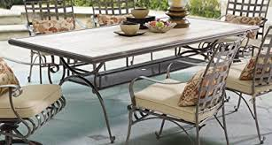 patio table with removable tiles amazon com myco furniture tile top patio table garden outdoor