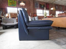 Navy Blue Leather Club Chair Navy Blue Leather Sofa By Nicoletti Salotti At 1stdibs