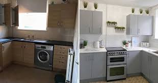 painting kitchen cabinets uk transforms kitchen cabinets tiles and worktops for 200