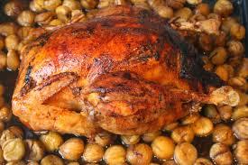comment cuisiner un chapon au four la cuisine de bernard chapon aux marrons