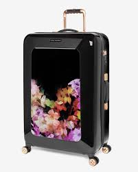 Suitcases Large Floral Suitcase Luggage And Suitcases