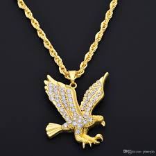 hip hop style necklace images Wholesale hip hop gold eagle pendant necklace gold full of jpg