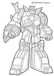 coloring pages robot power rangers coloring