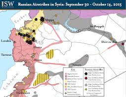 Syria War Map by Map Russian Airstrikes In Syria Are Helping Isis And Assad
