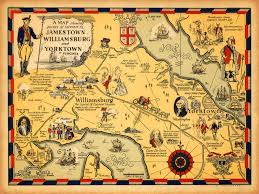 Map Of Virginia With Cities by Map Of Virginia 1585 U20131781 With Williamsburg Jamestown Yorktown