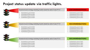 stoplight report template project traffic lights animated powerpoint slide