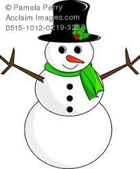 art image snowman coloring