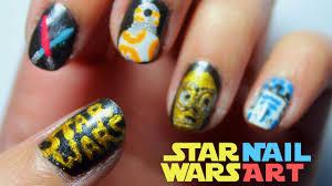 star wars inspired nail art tutorial youtube
