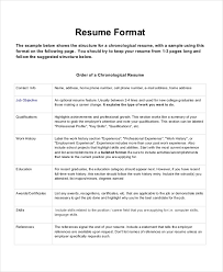 a resume format for a resume format 23 free word pdf documents free