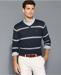 hilfiger sweater mens hilfiger sweater striped v neck sweater where to