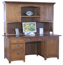Armoire Solid Wood Computer Desks Amish Computer Desk Mate Solid Wood Rustic Made