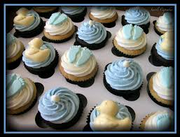 photo baby shower cupcakes delivered swirls image