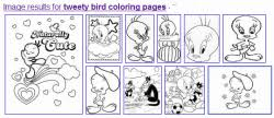 free tweety bird coloring pages