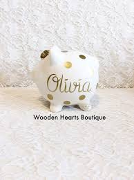 monogrammed piggy bank personalized piggy bank personalized baby gift baby shower