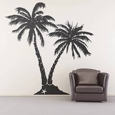 palm tree beach wall sticker trees home and palm tree beach wall sticker