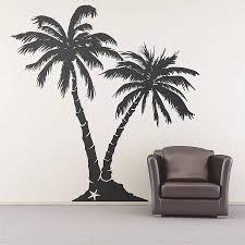 Wall Stickers Trees Palm Tree Beach Wall Sticker Palm Trees Beach Wall Sticker And Palm