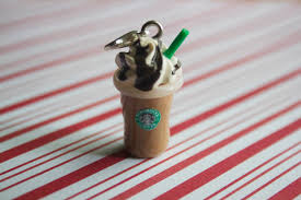 polymer clay starbucks coffee drink charm miniature polymer clay