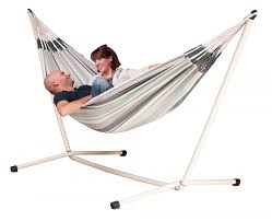 Hammock And Stand Set Paloma Olive Cotton Double Classic Hammock