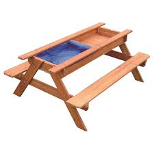 Kids Wooden Picnic Table Sand U0026 Water Picnic Table Kids Playhouse Outdoor Play Toy Sandpit