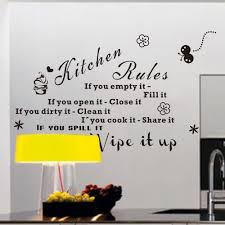the latest explosion models 8159 amazon kitchen kitchen rules the latest explosion models 8159 amazon kitchen kitchen rules english diy wall stickers walls waterproofhome decoration creative kitchen wall decor stickers